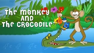 The Monkey And The Crocodile Story | Grandpa Stories | English Moral Stories For Kids