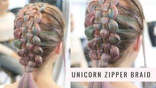 Unicorn Zipper Braid by Sweethearts Hair and Salonshades