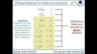 Learn Quran (1/2) - The 15 Rules Of Reciting The Letter Raa`