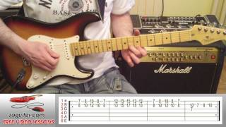 How To Play Brown Eyed Girl by Van Morrison on Guitar (intro) + TAB