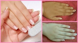 salon style manicure at home/how to do manicure at home in hindi