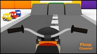 Cartoon Cars - MOTORCYCLE & HELICOPTER Construction Compilation Cartoons for kids