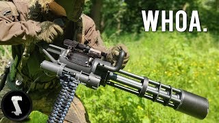 Possibly The Most Painful Airsoft Gun In Existence (3000 RPM Minigun)