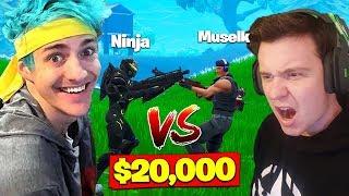 Ninja Vs. Muselk For *$20,000* In Fortnite Battle Royale!