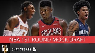 2019 NBA Mock Draft Post-Combine Edition | All 30 1st-Round Picks v1.0