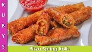 Crispy Pizza Spring Ramazan Special & Lunchbox Idea Recipe in Urdu Hindi - RKK