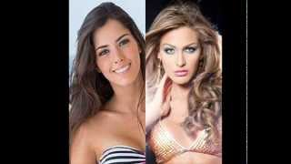 Miss Venezuela y Miss Colombia