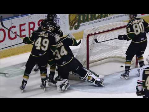 Knights Jones ejected for vicious cross check to the face of Attack s Gadjovich