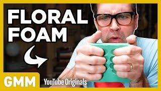 We Try Floral Foam Crushing ASMR