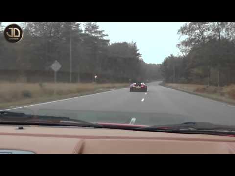 Bugatti Veyron vs Ferrari F430 JDC   Ferrari Owners Club Herfstrit 2012