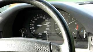 BMW 525i 24V E34 Acceleration and Top Speed - Autobahn
