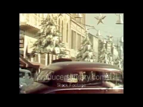 Christmas on Hollywood Boulevard in the late 1940s. From Producers Library of Los Angeles