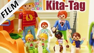 Playmobil Film Deutsch - EMMA IN KITA - SCHNUPPERTAG BEI JULIAN! Kinderserie Familie Vogel
