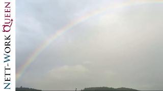 Regenbogen mit schönen Farben über Bergneustadt (21.08.2016) Oberbergischer Kreis / NRW