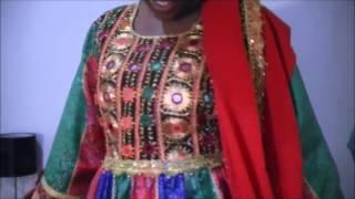 رقص دختر سیاه پوست با لباس افغانی