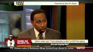 LeBron James Unsure About 2014 Free Agency - ESPN First Take