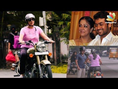 Xxx Mp4 Suriya Teaching Jyothika To Ride A Bullet Bike Hot Tamil Cinema News 3gp Sex