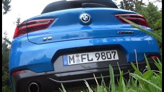 😎BRUTAL BMW X2 M35i 19 min Autobahn POV, revs and in detail  The SOUND! In 4k Ultra HD