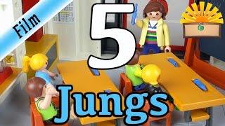 5 ARTEN von JUNGS! Playmobil Film deutsch SCHÜLER, KINDER und RABAUKEN