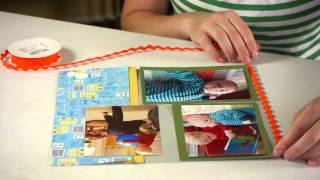 How to Make a Scrapbook Page : Preschool Crafts & More