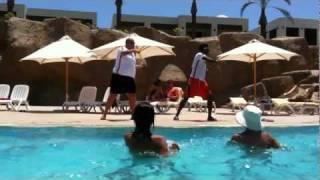 Water Aerobics with Joseph & Jalloh at Reef Oasis Beach Resort, Sharm, Egypt