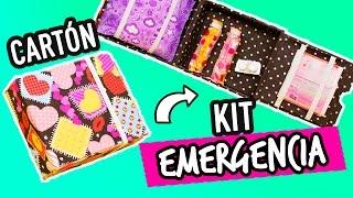 Organizador de Toallas Femeninas Portátil de Cartón   Cartonaje   Kit para esos días   Catwalk