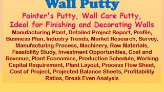 Wall Putty, Painter's Putty, Wall Care Putty, Ideal for Finishing and Decorating Walls