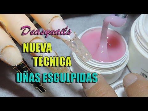Como hacer uñas de Acrigel - Nueva tecnica de uñas esculpidas Deasynails
