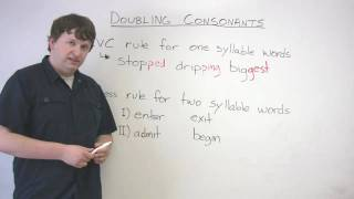 English Spelling - When to Double Consonants