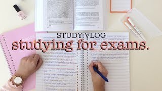STUDY VLOG 8 - studying for my exams