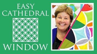 Make a Easy Cathedral Window Quilt with Jenny Doan of Missouri Star! (Video Tutorial)