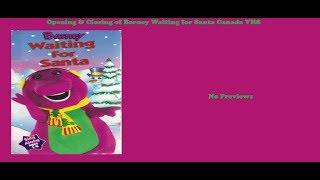 Barney: Waiting for Santa Canada VHS Opening & Closing