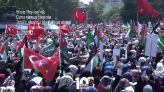 Beyazıt Meydanında İsrail Protesto edildi