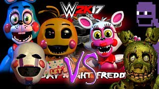 FNAF 2 TOY CHICA, TOY BONNIE, MANGLE, MARIONETTE, SPRINGTRAP & PURPLE GUY BATTLE! EP 28 FNF