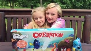 Finding Dory operation Game W Princess Ella & Play Doh Girl from Fun Factory. Real baby turtles.