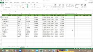 Microsoft Excel 2013 Tutorial in Bengali – (Part 7) - Salary Sheet
