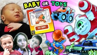 SKY BABY vs. WAVE 3 TOYS SURPRISE!  Who The Kids Pick! (SKYLANDERS SUPERCHARGERS)