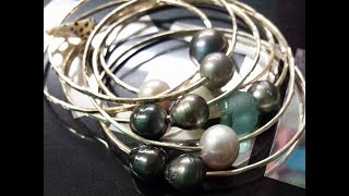 How To Make A Bangle Bracelet with Tahitian Pearls