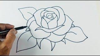 কিভাবে খুব সুন্দর গোলাপ আঁকতে হয়-দেখুন | How to Draw Amazing Rose Bangla