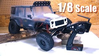"""RC ADVENTURES - REDEFiNE TRAiL CRAWLiNG! Unboxing a 1/8th scale """"CRAGSMAN"""" 4x4 - TRACTiON HOBBY"""