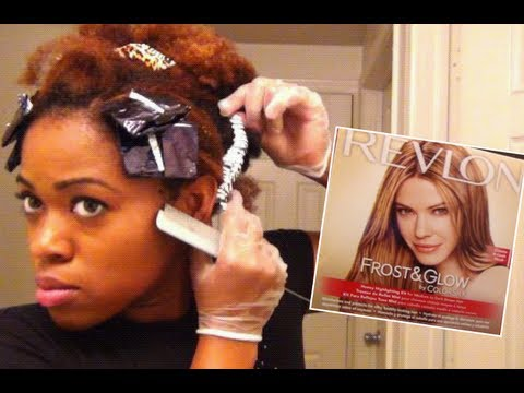 'Revlon Frost and Glow' on Natural Hair| 'Foil Highlights' at Home