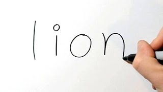 How to Turn Words Lion into a Cartoon #1