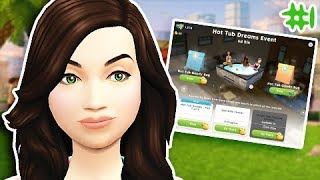 HOT TUB DREAMS EVENT #1 🦆 // THE SIMS MOBILE!