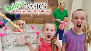 Escape the Babysitter Baldi in Real Life! Baldi's Basics in Education and Learning!