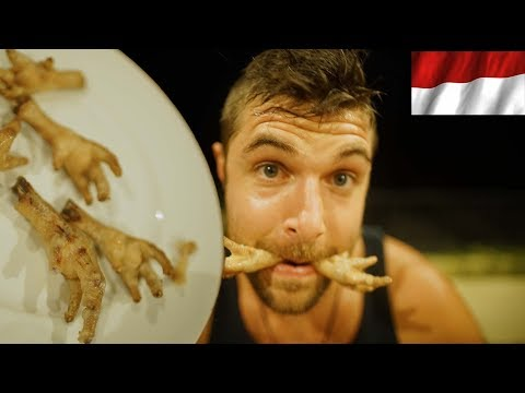 Canadians try Indonesian Food (Durian and Chicken Feet Challenge)