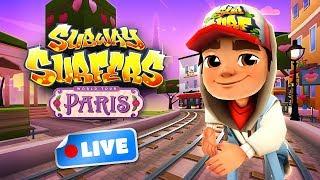 🎮 Subway Surfers World Tour 2018 - Paris Gameplay Livestream Paris (Valentine