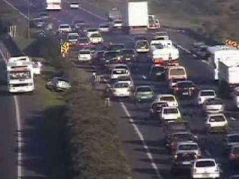 Flagrantes de acidentes na Freeway BR 290
