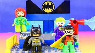 Lego Duplo Batcave Challenge Joker & Poison Ivy Team Up To Fight Batman Learning Colors Fun