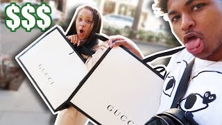 WE SPENT $10,000 SHOPPING IN GUCCI TOGETHER!! **RICHEST YOUTUBE COUPLE**