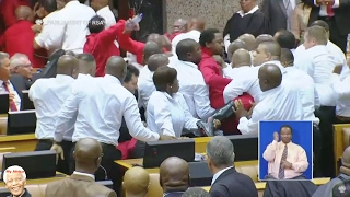 SONA 2017 | BIG BIG Fight In Parliament. EFF vs Zuma.